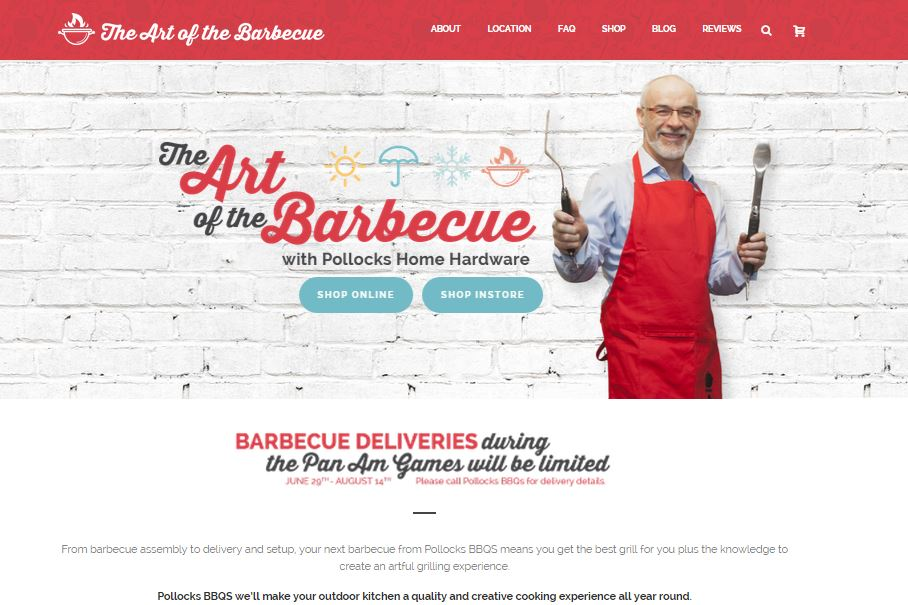 In 2015, an e-commerce website was launched for Pollocks Barbecues resulting in a 3 fold or 200% increase in barbecue sales during the first half of the year.