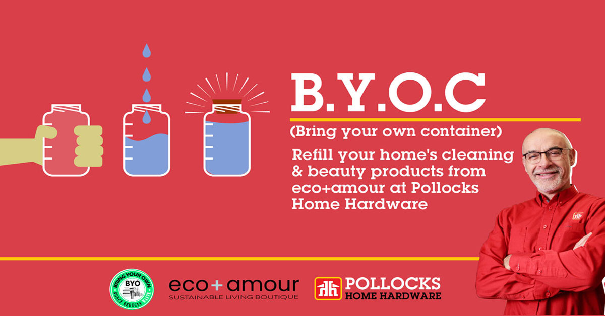 """Face Time Presentations helped to launch an innovative """"refill station"""" partnership between Pollocks Home Hardware and eco+amour with an integrated digital and local ad campaign that quickly delivered awareness and sales."""