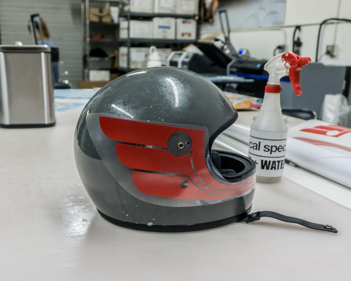 vinyl decal motorcycle helmet