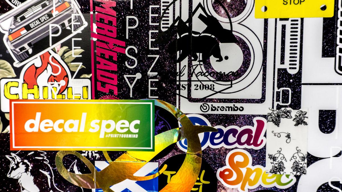 3m vinyl die cut sticker decal spec
