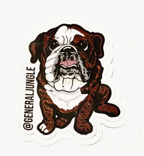 furry family dog doggie bulldog jungle