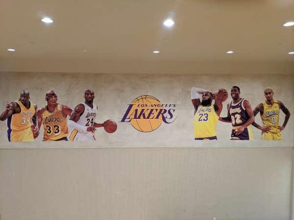 custom lakers wall mural shaq kareem kobe lebron magic kuzma