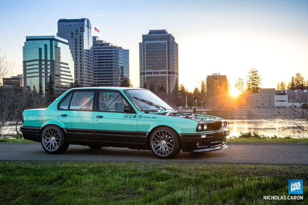 catuned minty e30 pasmag side