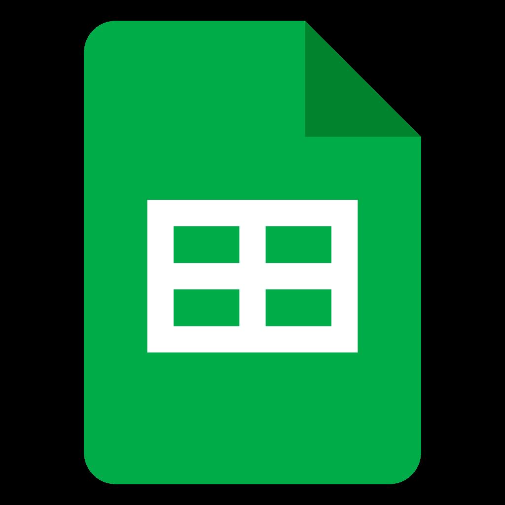 Logo Google Planilhas
