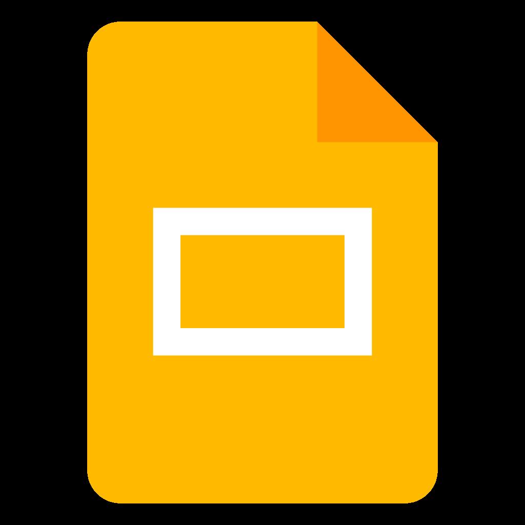 Logo Google Apresentações
