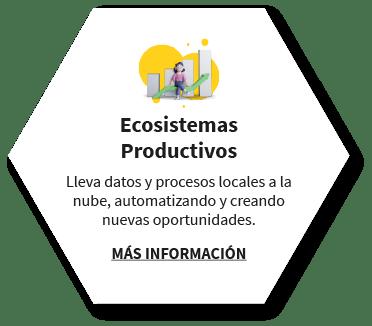 Ecosistemas Productivos Lleva datos y procesos locales a la nube, automatizando y creando nuevas oportunidades. MÁS INFORMACIÓN