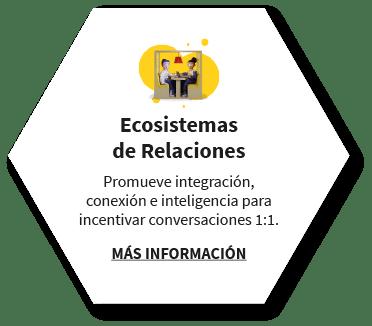Ecosistemas de Relaciones. Promueve integración, conexión e inteligencia para incentivar conversaciones 1:1. MÁS INFORMACIÓN