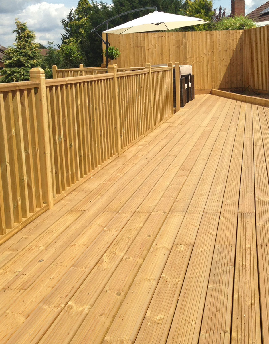 Picture depicting clean decking