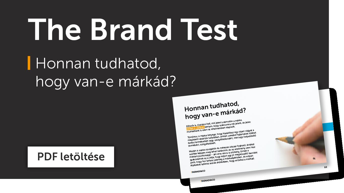 Töltsd le a brand tesztet és tudd meg, milyen erős a márkád.