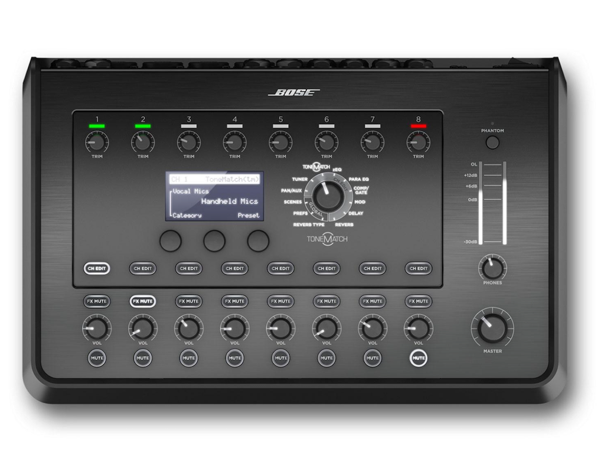 Bose T8S ToneMatch Compact Digital Mixer, 8-Channel