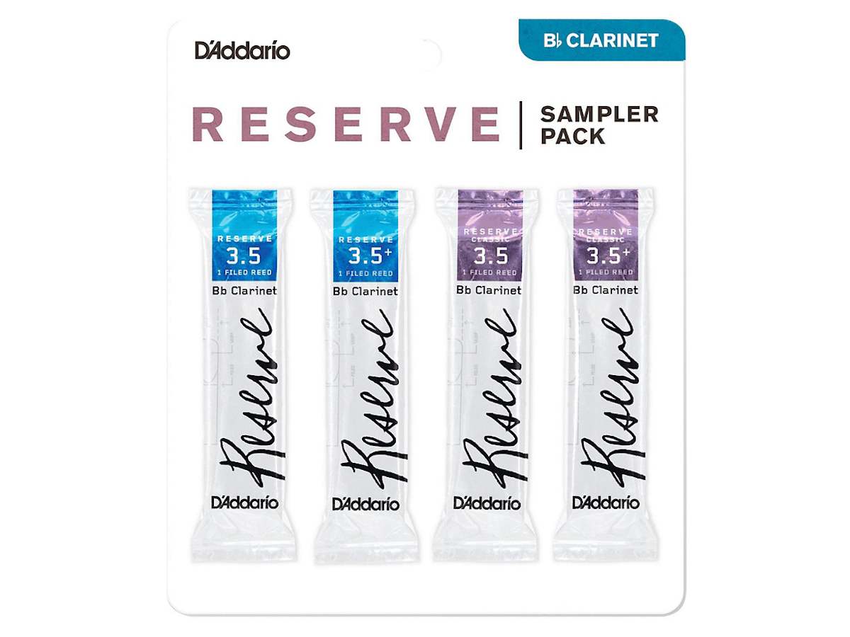 D'Addario Woodwinds D'Addario Reserve Bb Clarinet Reed Sampler Pack 3.5