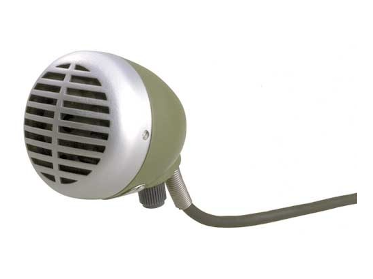 Shure 520DX Green Bullet Omnidirectional Dynamic Microphone with Volume Control