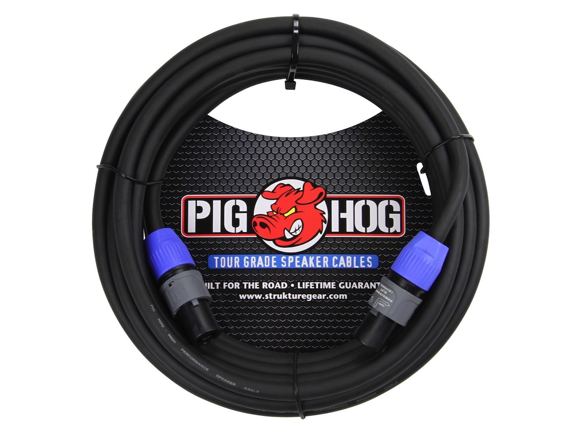 Pig Hog Speakon to Speakon 14-Gauge Speaker Cable, 5'