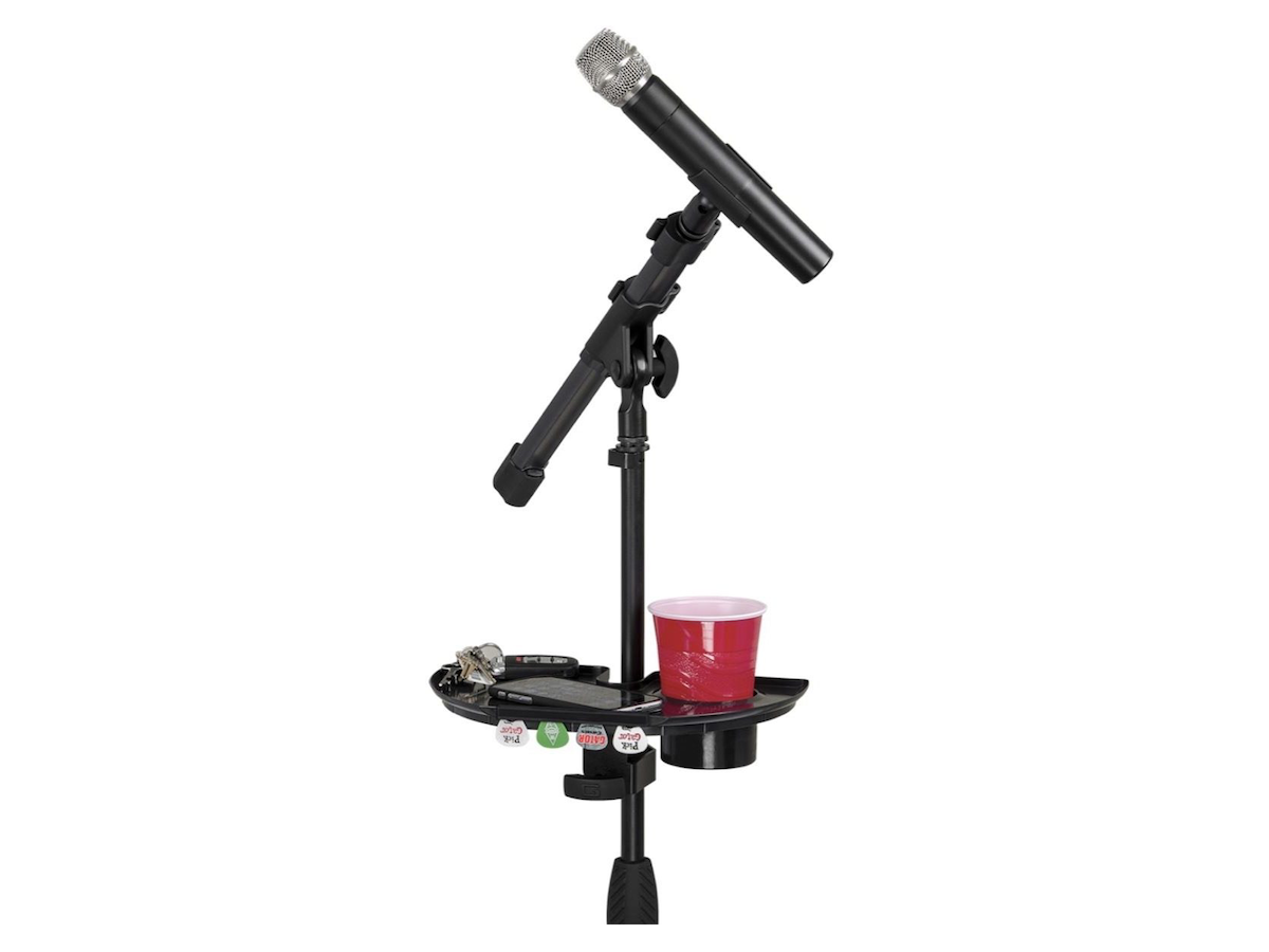 Gator GFW-MICACCTRAY Microphone Stand Accessory Tray with Drink Holder