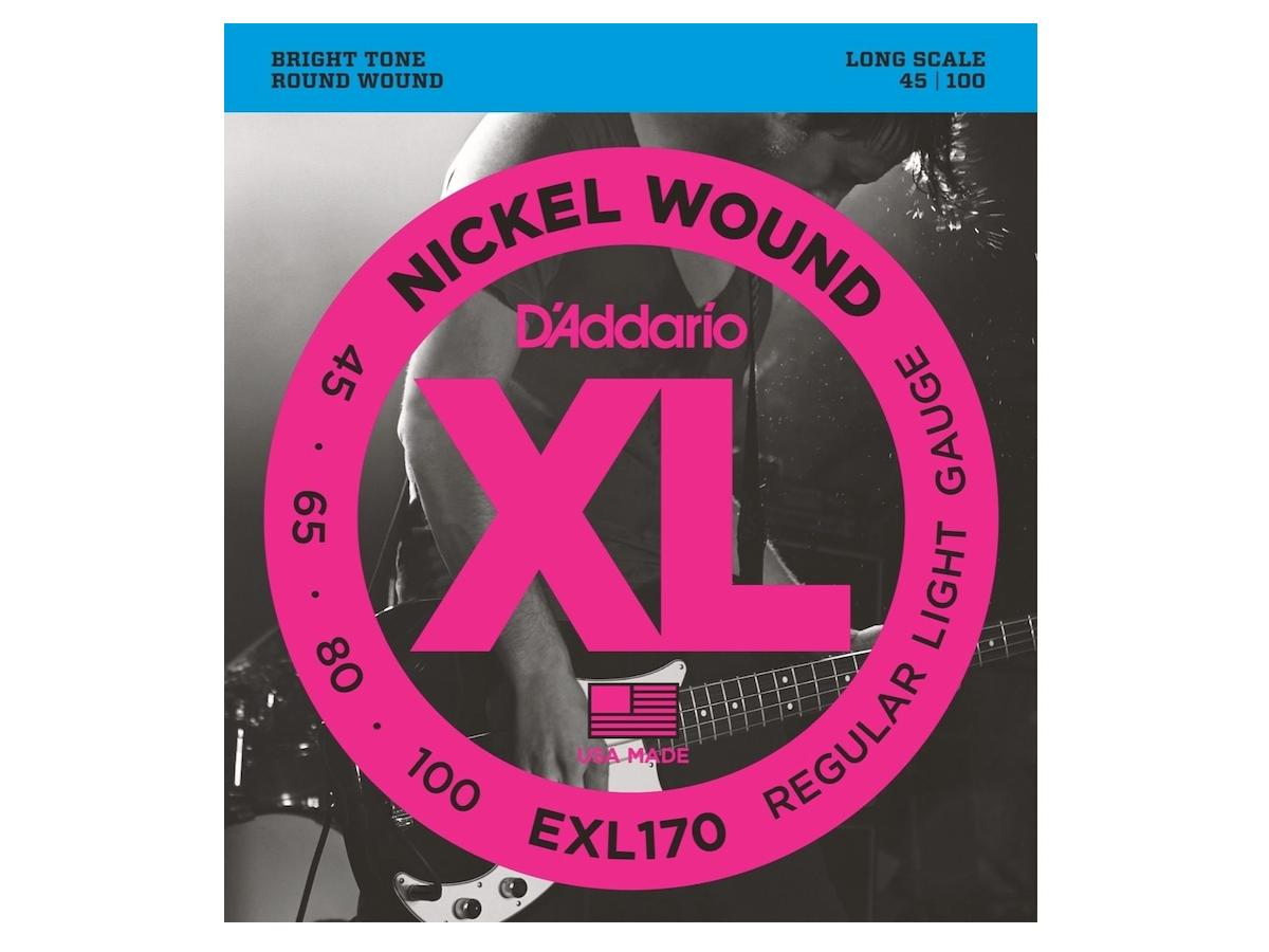 D'Addario EXL170 XL Nickel Wound Bass Strings (Soft, Long)