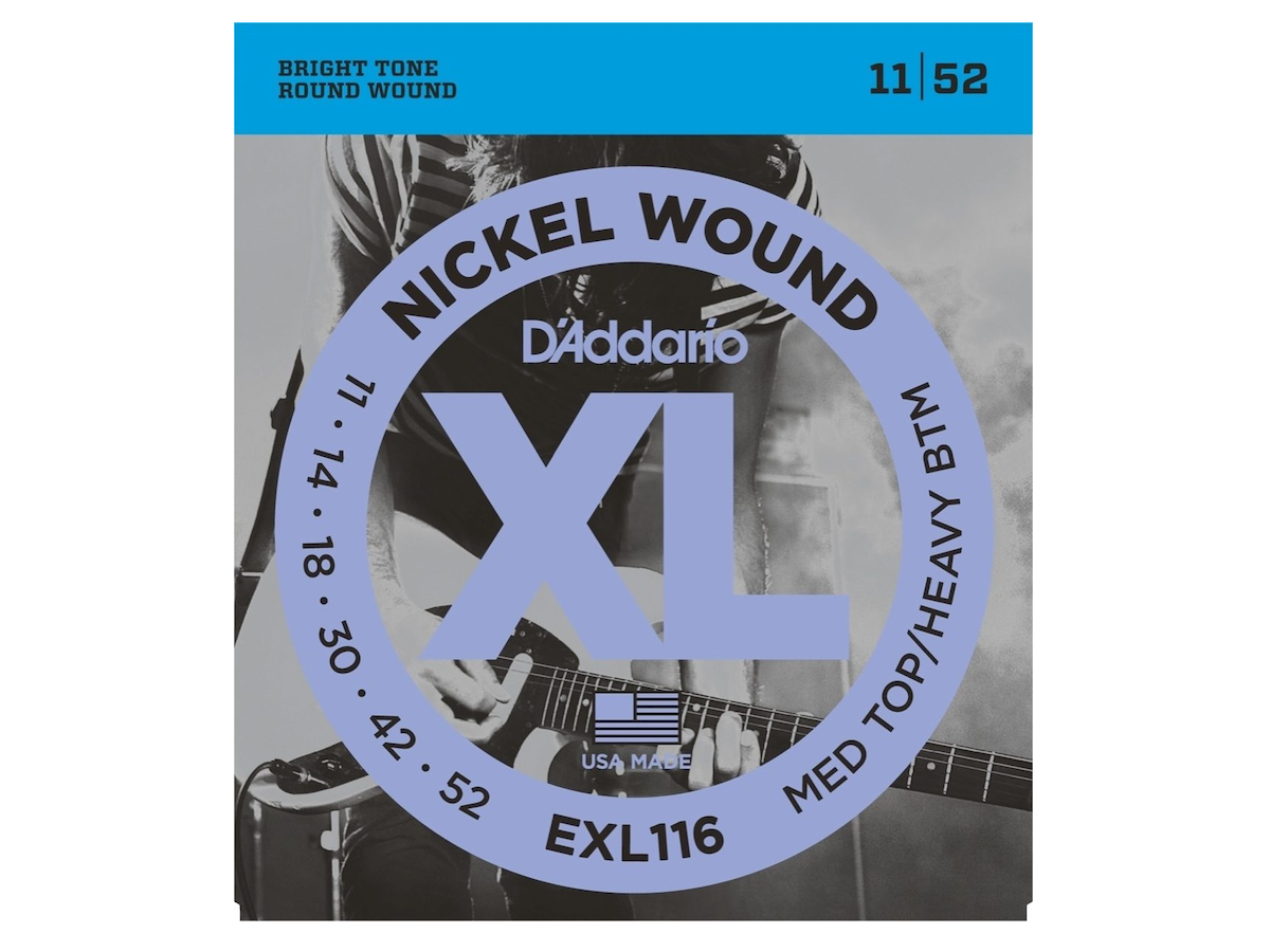 D'Addario EXL Nickel Wound Electric Guitar Strings, EXL116, Medium Top/Heavy Bottom