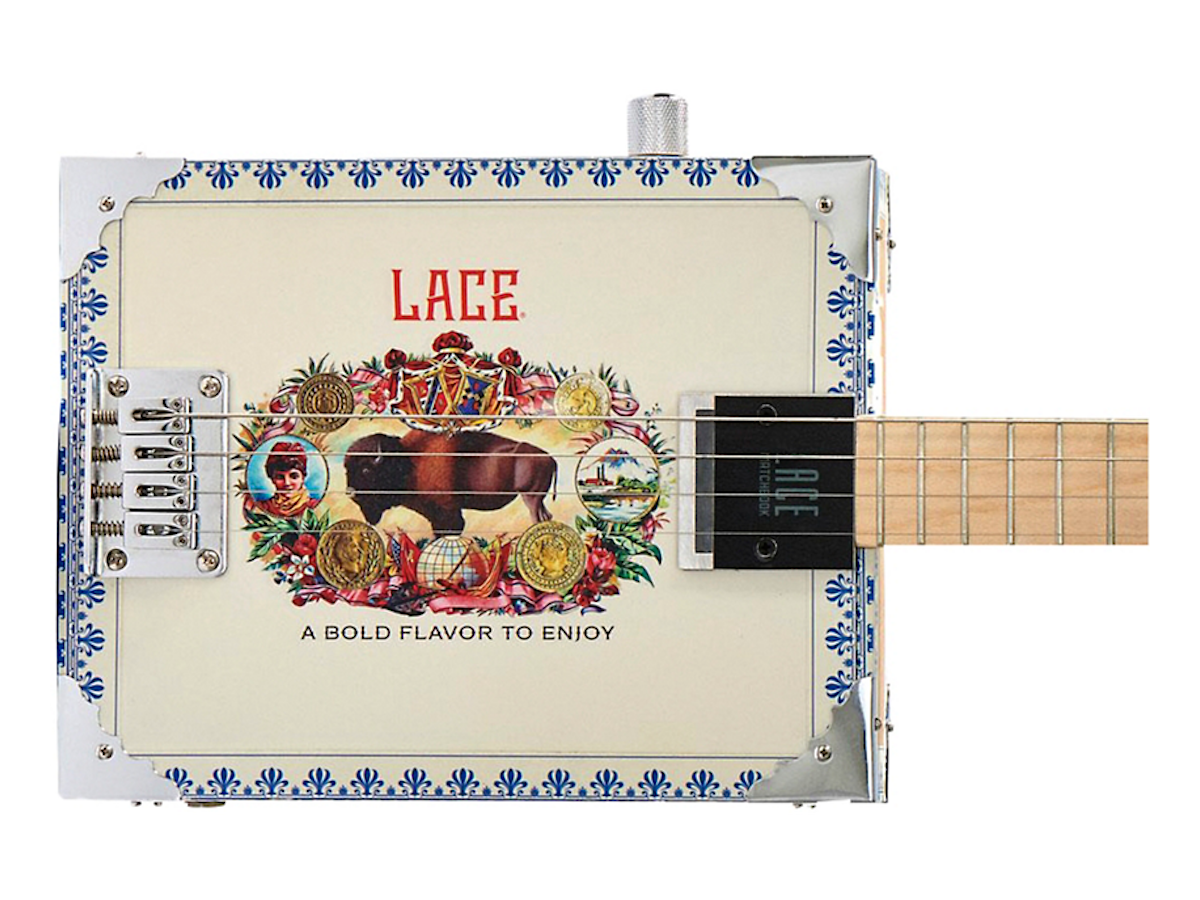 Lace Buffalo Bull Acoutic-Electric Cigar Box Guitar  4 string