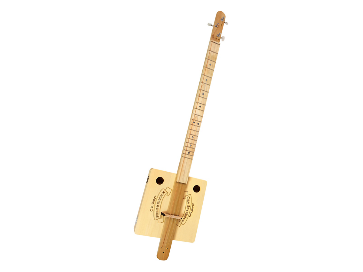 "C.B. Gitty ""Pure & Simple"" Fretted 3-String Cigar Box Guitar Kit Natural"