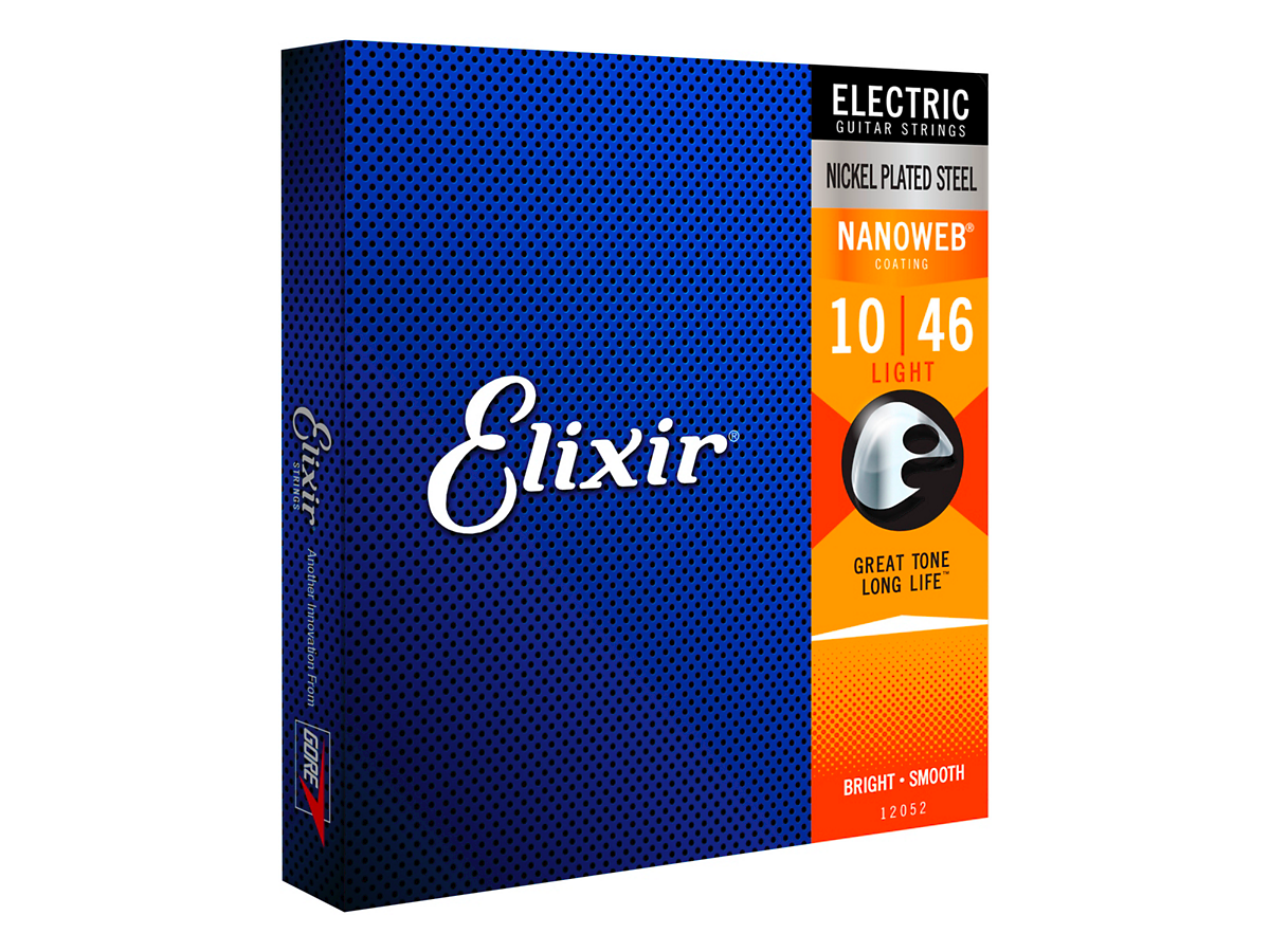 Elixir Electric Guitar Strings with NANOWEB Coating, Light (.010-.046)