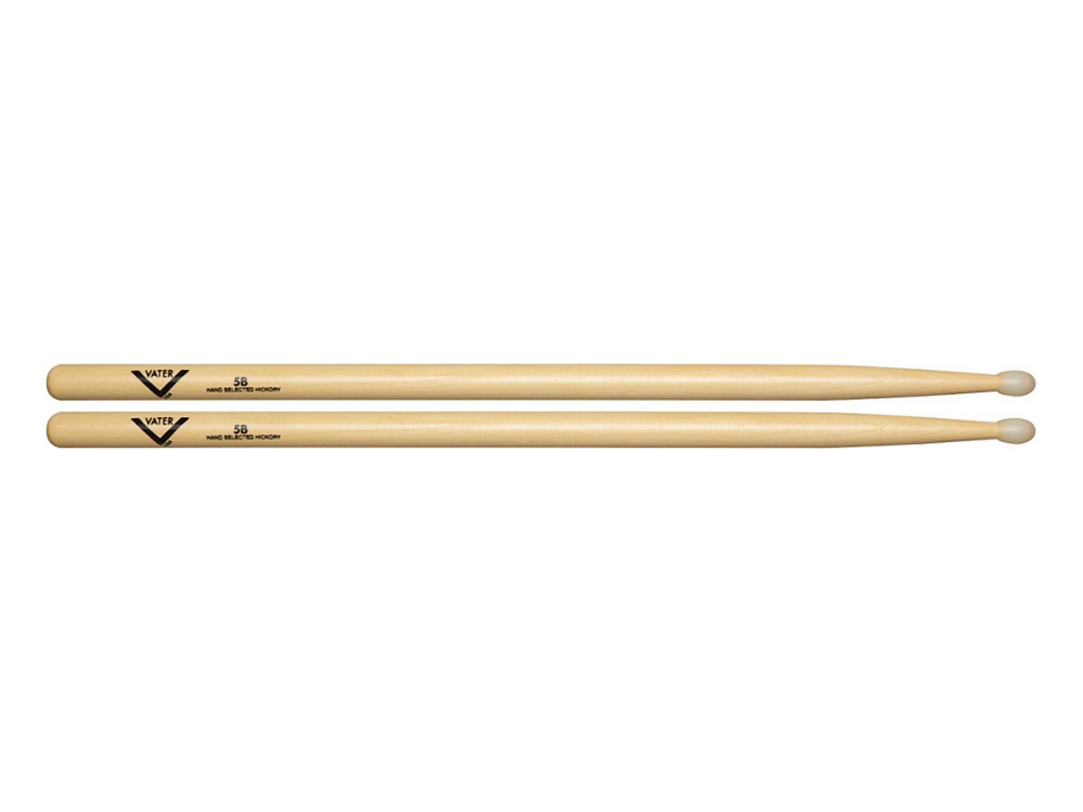 Vater American Hickory 5B Drum Sticks  Nylon