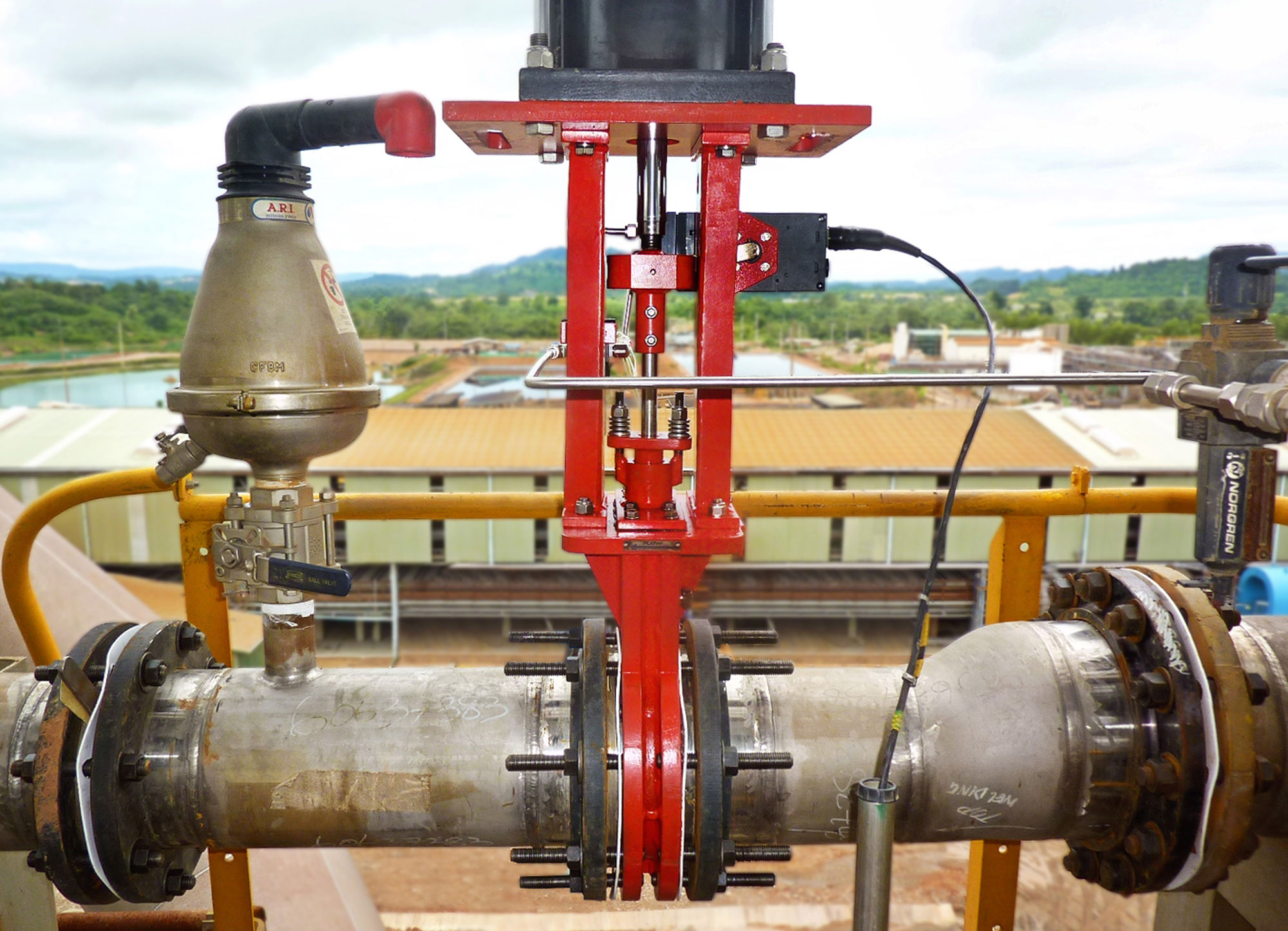 Slurryflo Control Valve used in hydro transport application