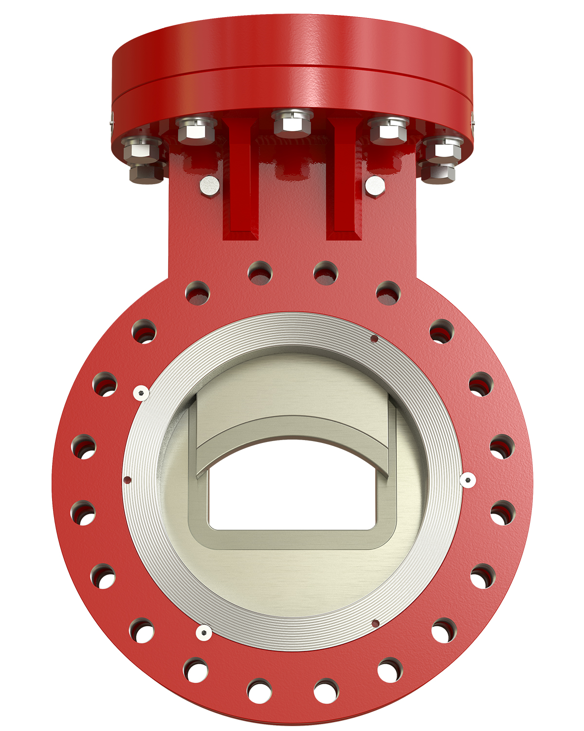 SlurryFlo Control Valve in Modulating Position.