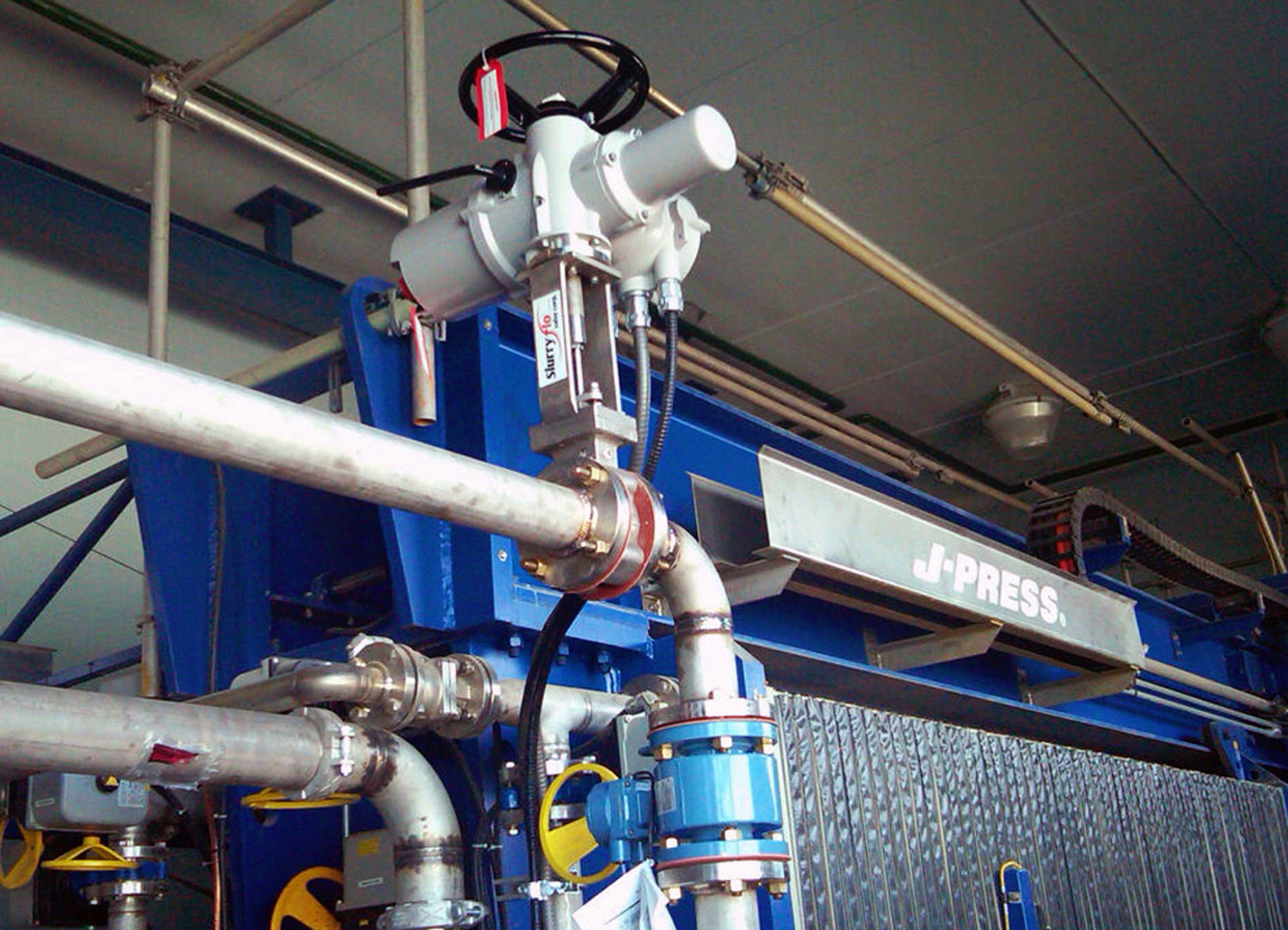 Slurryflo Control Valve used in filter press application