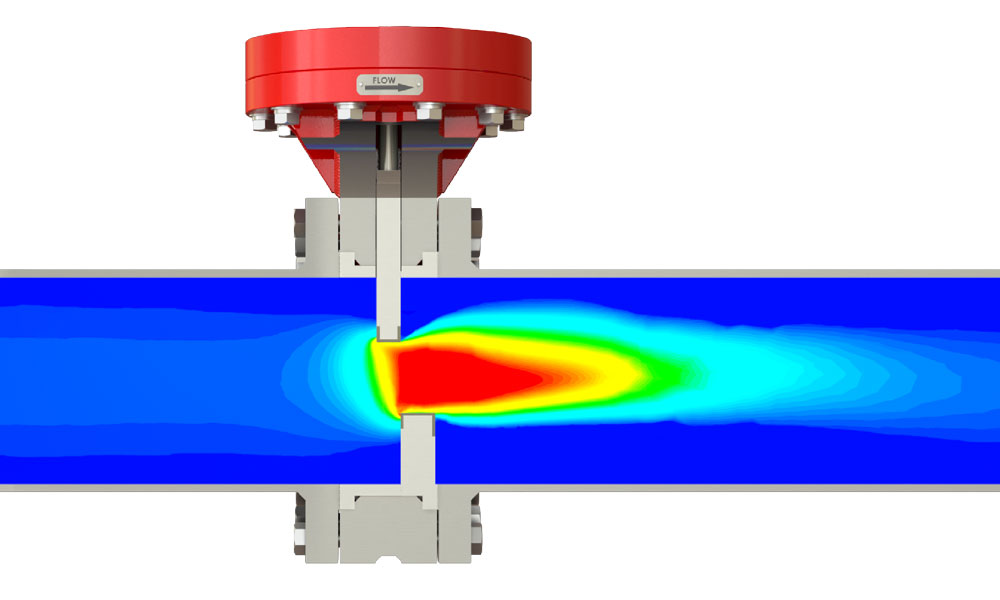 A SlurryFlo control valve can reduce cavitation in slurry applications by centering high velocity flow.