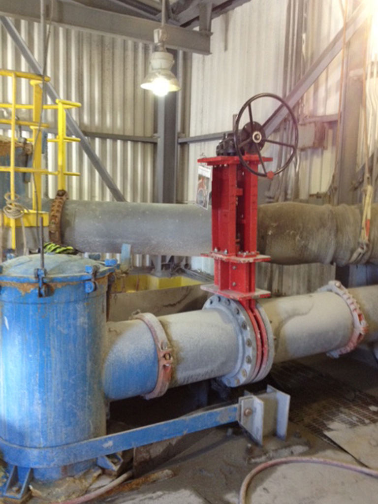 Slurryflo Control Valve used in flotation application