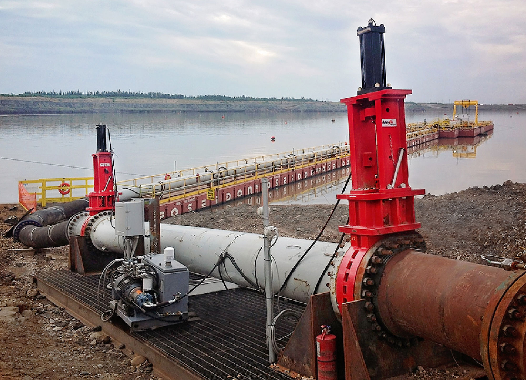 Slurryflo Control Valve used in mine tailings application