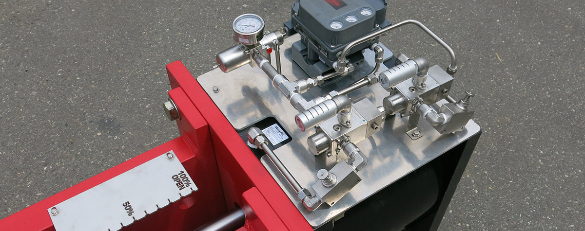 SlurryFlo Control Valves can adapt the top plate to suit any actuator type, brand or model.