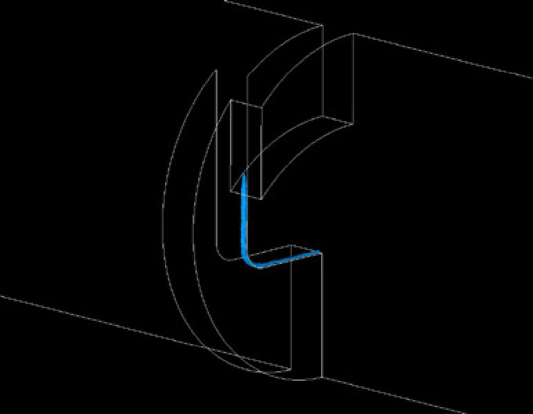 CFD model of incipient cavitation in a control valve.