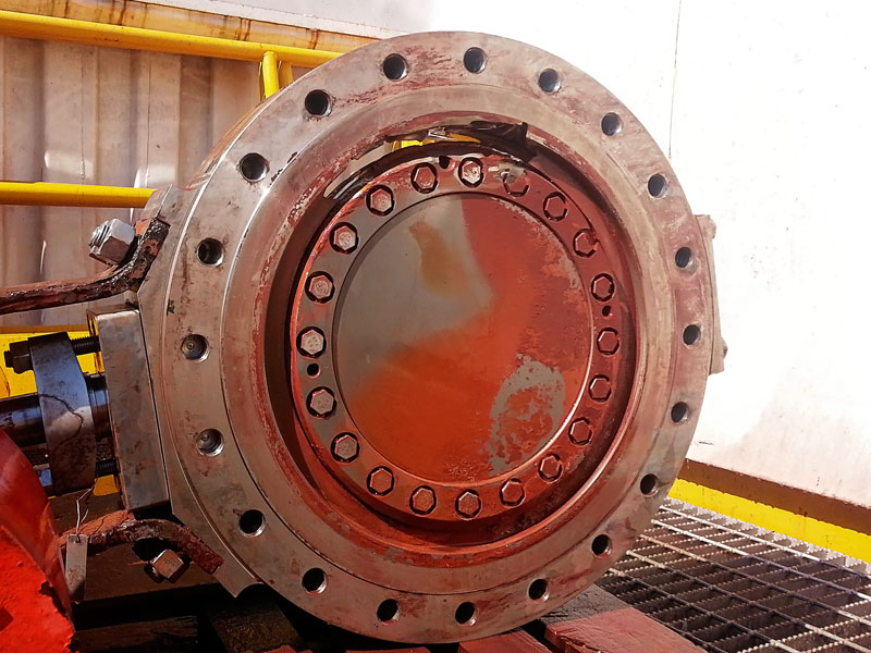 "Damaged 20"" Titanium Butterfly Valve"
