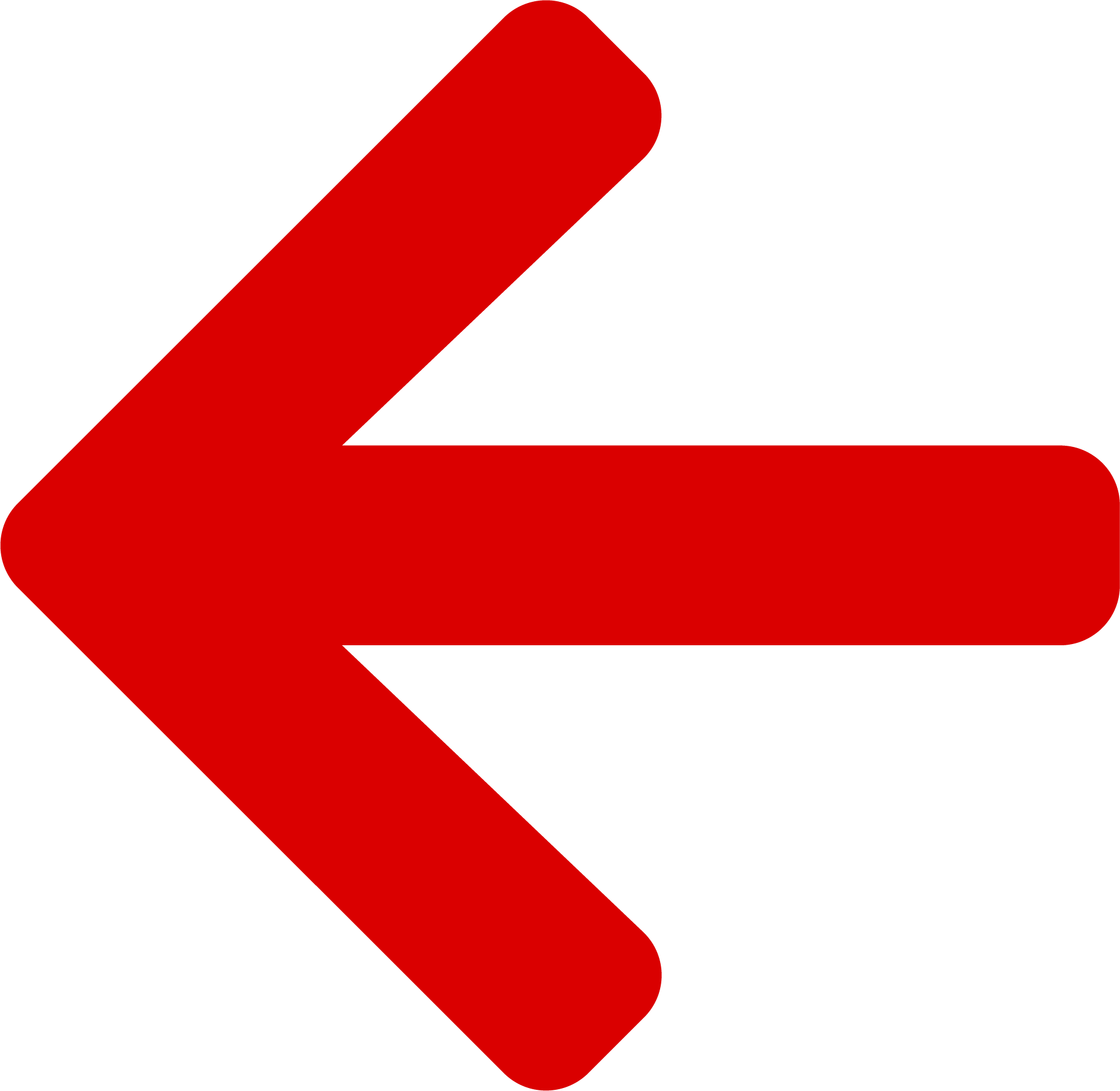 left arrow icon red
