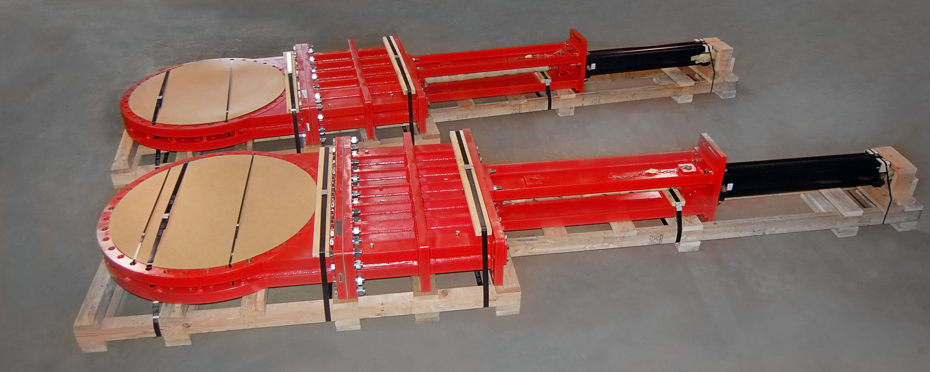 SlurryFlo Control Valves can be built from 3 to 60 inches in diameter.
