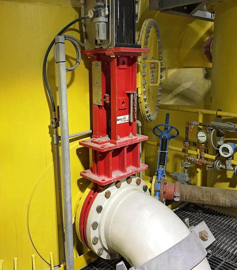 SlurryFlo Control Valves for severe service Flotation Cell