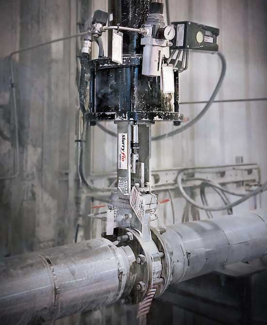 SlurryFlo control valve for high pressure reduction
