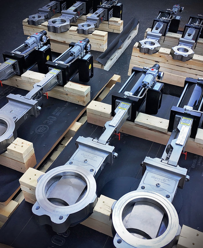 SlurryFlo Control Valves with Tungsten Carbide Trim Components.