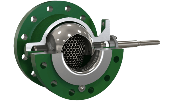 ball valve with anti-cavitation trim