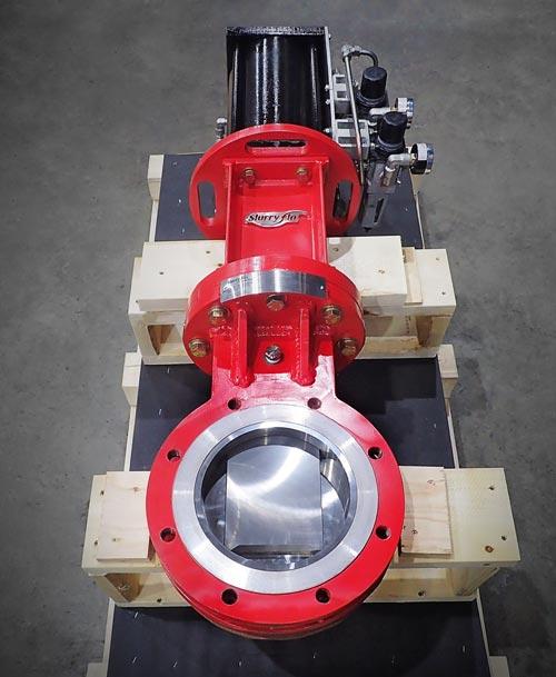 SlurryFlo control valve for abrasive or erosive mining applications