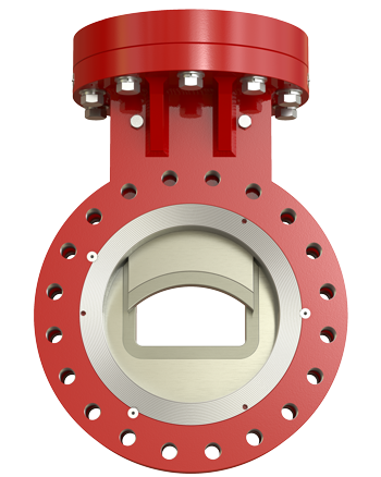 SlurryFlo Control Valves feature a patented trim design that acts as a variable orifice, centering slurry flow within a pipe.