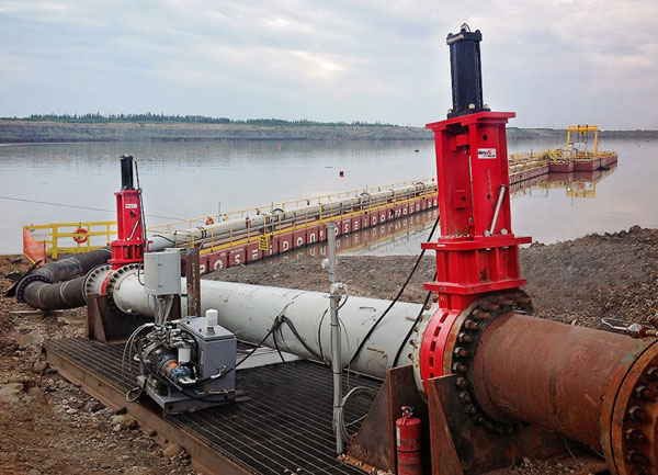 Multi Stage SlurryFlo control valves for pressure reduction in tailings