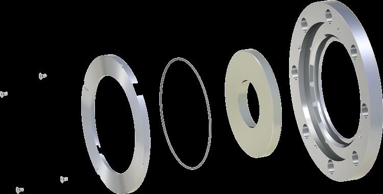 3-Piece restriction orifice plates for abrasive and erosive slurries.