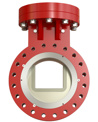 SlurryFlo Control Valve in a fully open position.