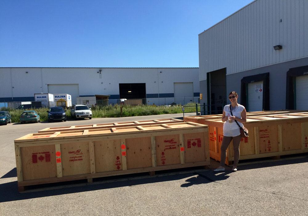 SlurryFlo Control Valves ready to be shipped