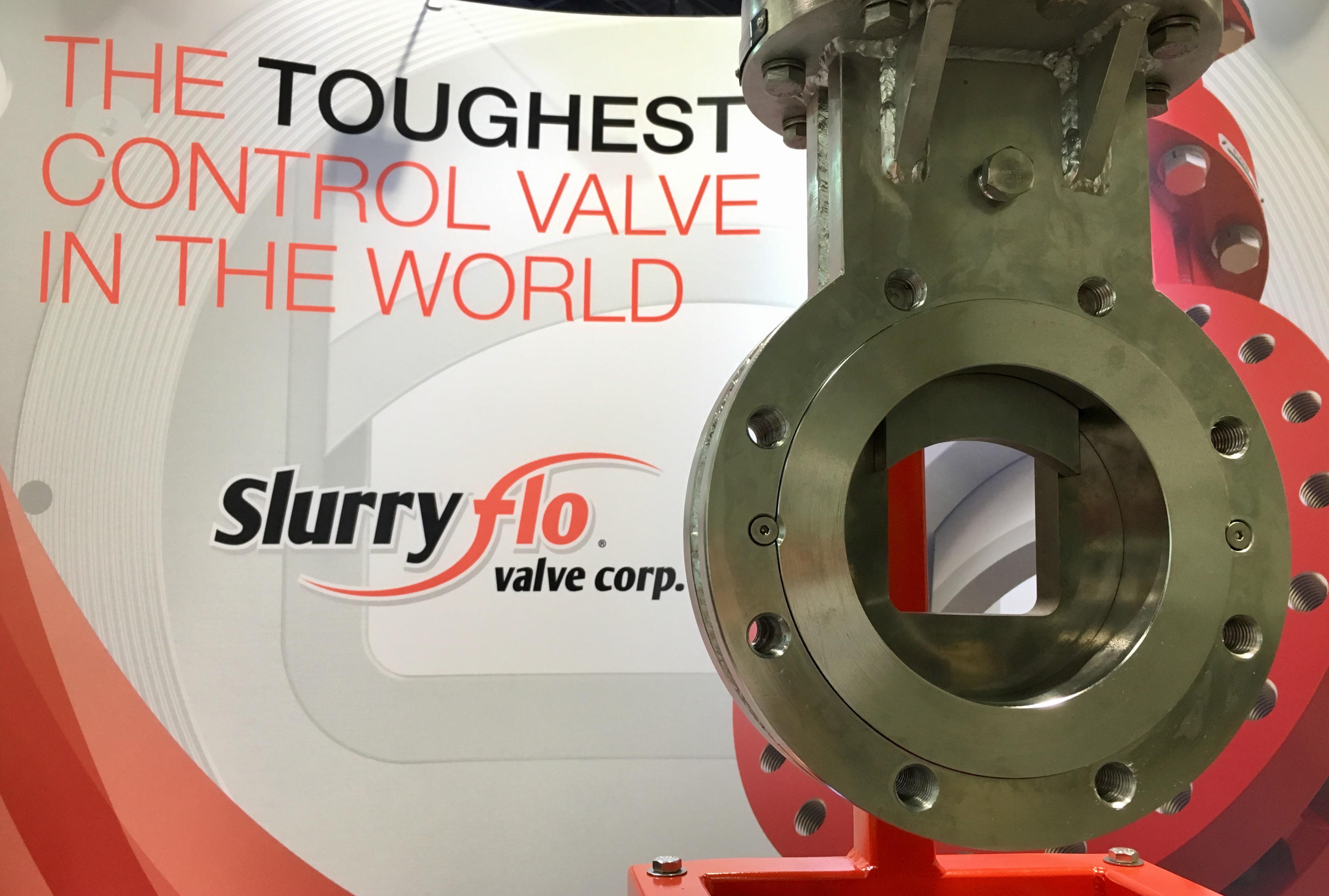 SlurryFlo's demo valve for Mine Expo 2016