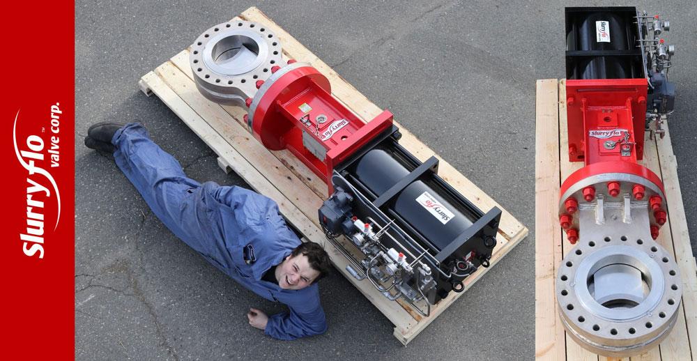 "12"" SlurryFlo control valves for high pressure gas plant"