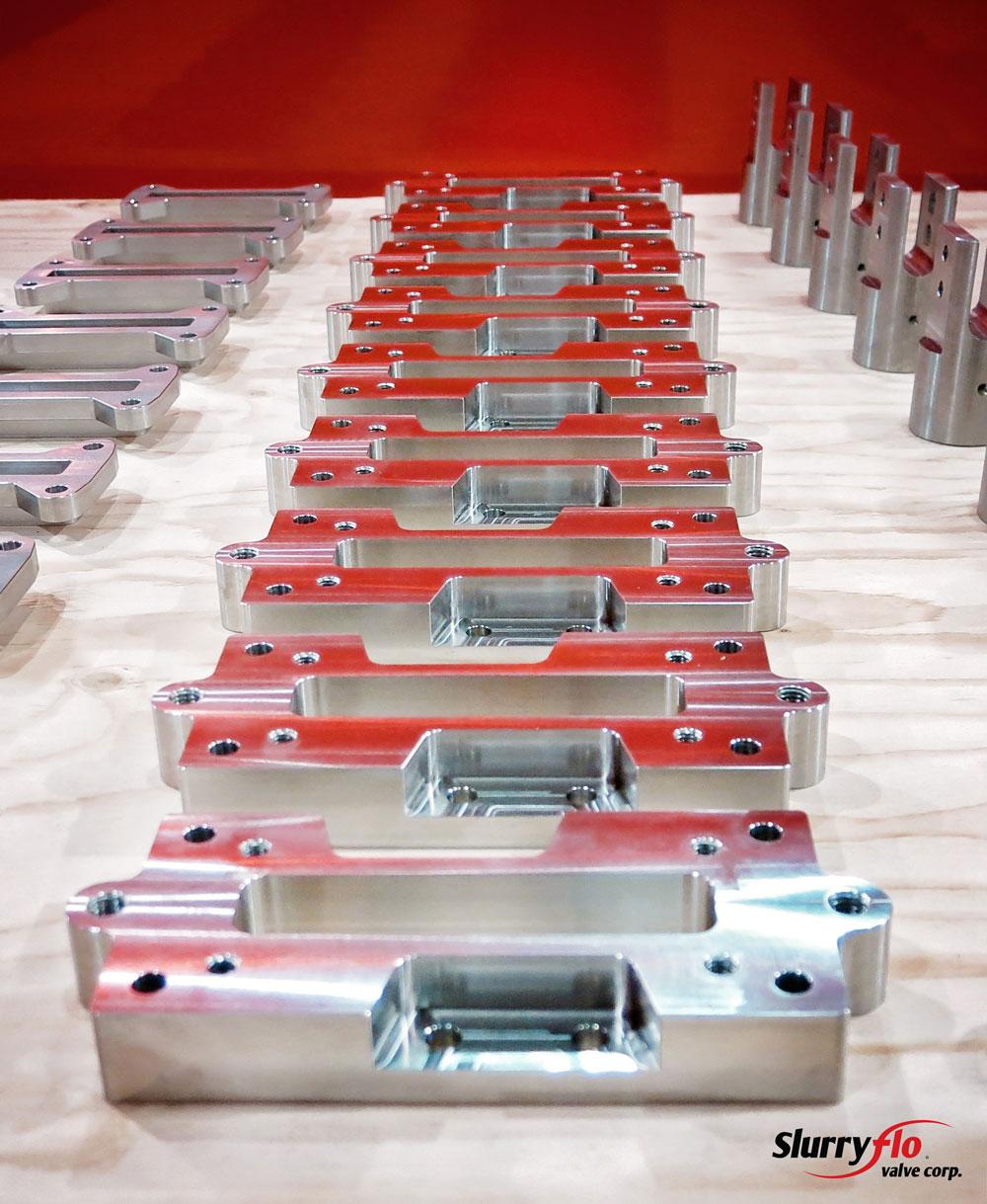 SlurryFlo control valve custom made components