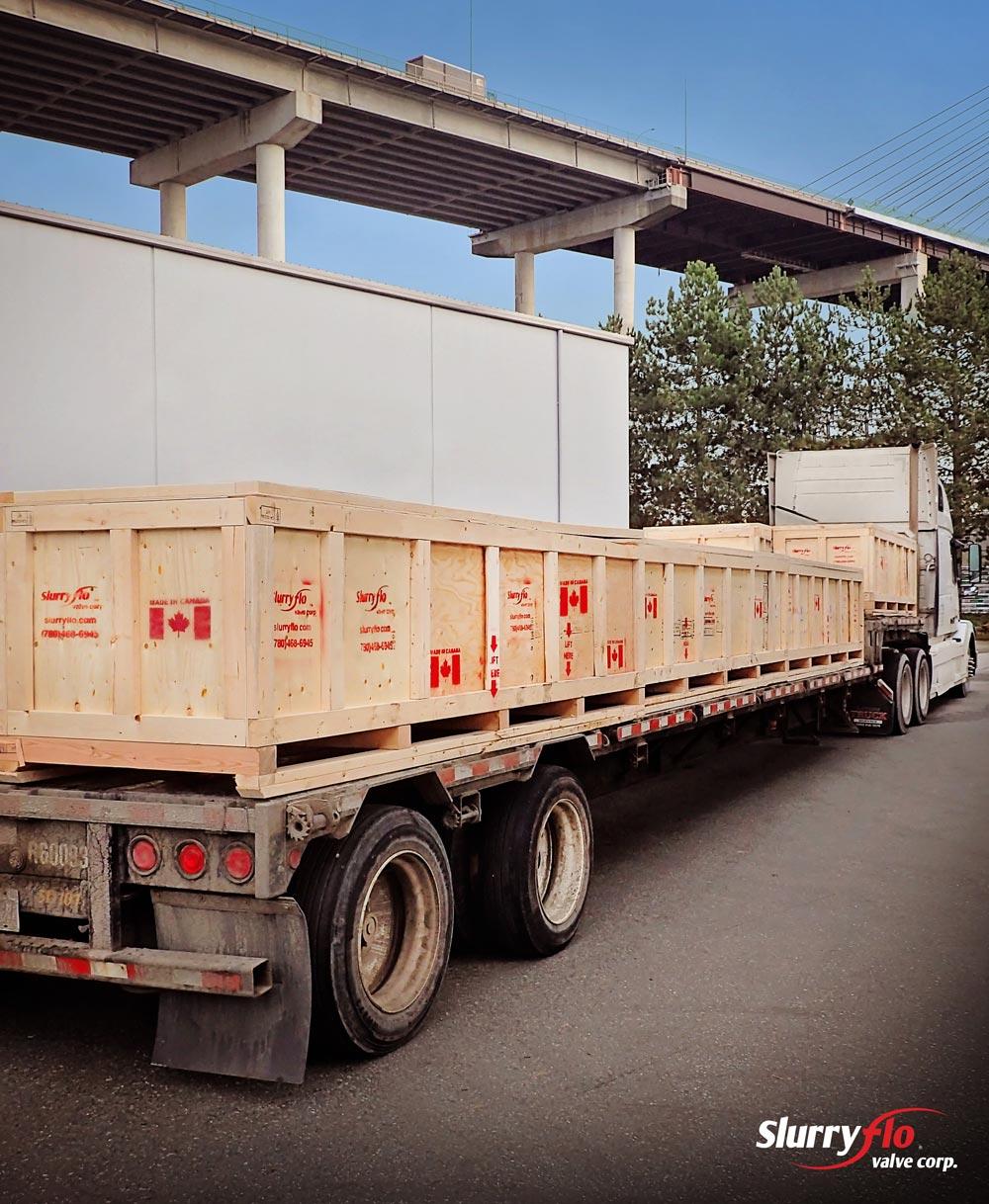 SlurryFlo control valve shipments