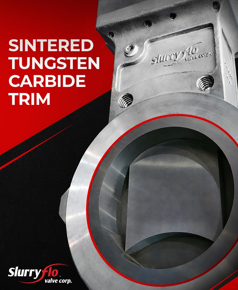 SlurryFlo wear components are made of Sintered Tungsten Carbide